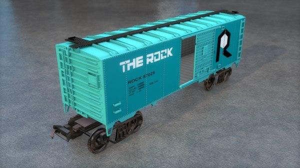 train cargo wagon 3D model