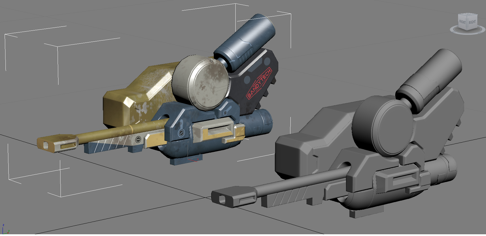 3D heavy assault cannon model