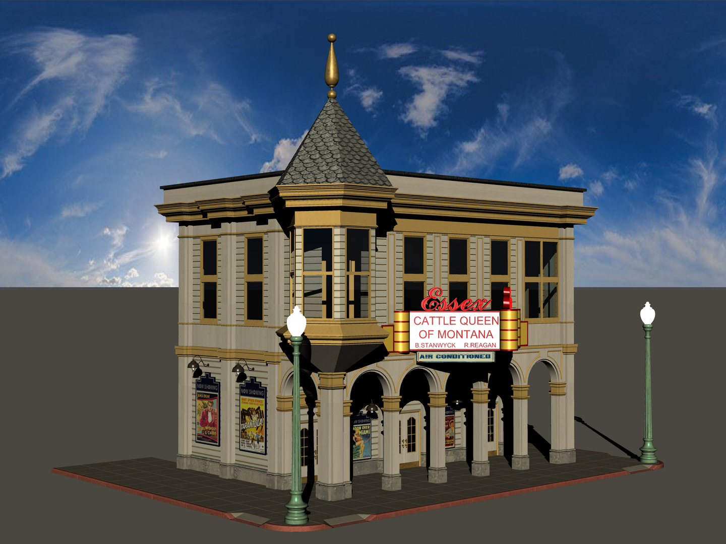 hill valley essex theater 3D model