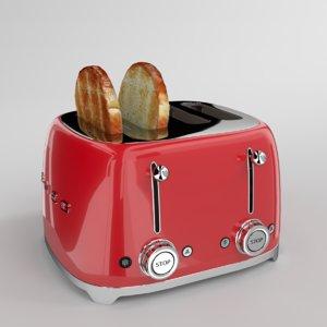 blender smeg toaster 3D