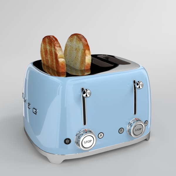 blender smeg toaster blue model