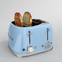 blender smeg toaster blue model