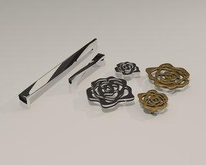 cabinet handle 3D model