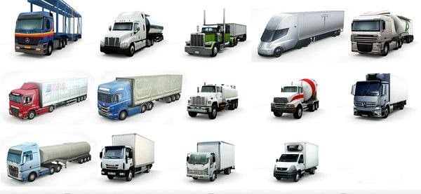 14 trucks vol1 3D model