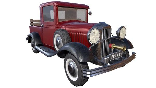 vintage vehicle 3D model