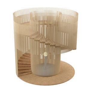 wooden lighthouse 3D