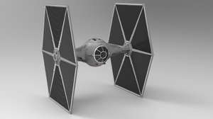 3D tie fighter interior