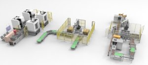 3D large manipulator layout equipment model