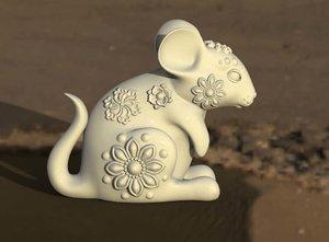 rat mouse rodent 3D model