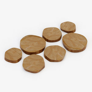 architectural visualization tarnished wood model