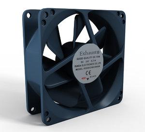 3D model cpu fan