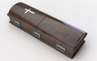 coffin split wood 3D