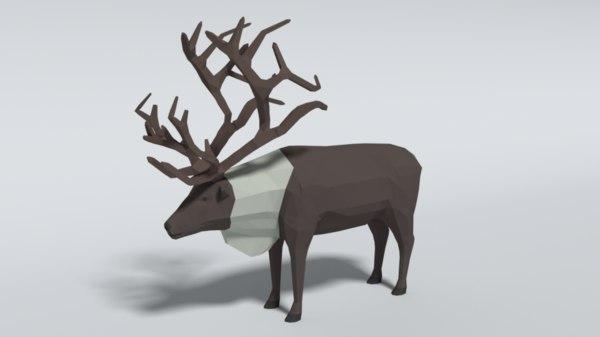reindeer blender 3D