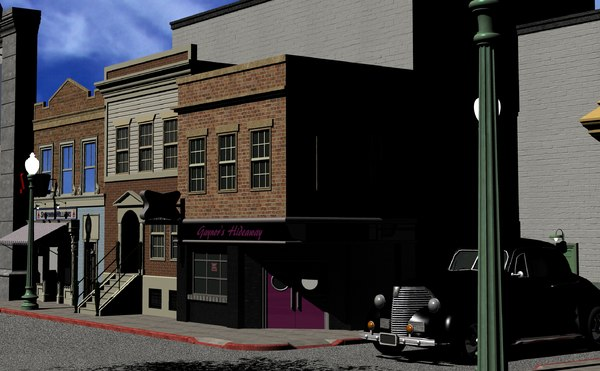 3D hill valley - alley