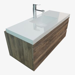 3D bathroom vanity washbasins