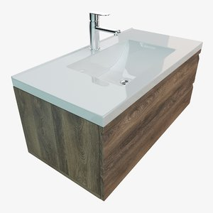 3D bathroom vanity washbasin