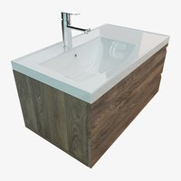 3D bathroom vanity washbasin model