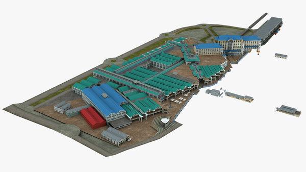 cape town hotel building 3D model