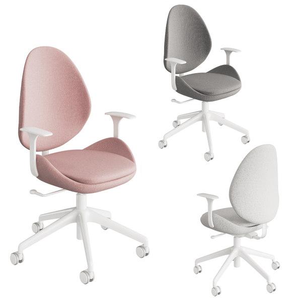 3d Office Chair Ikea Turbosquid 1470924, White Computer Chairs Ikea