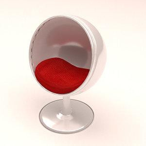 3D ball chair furniture model