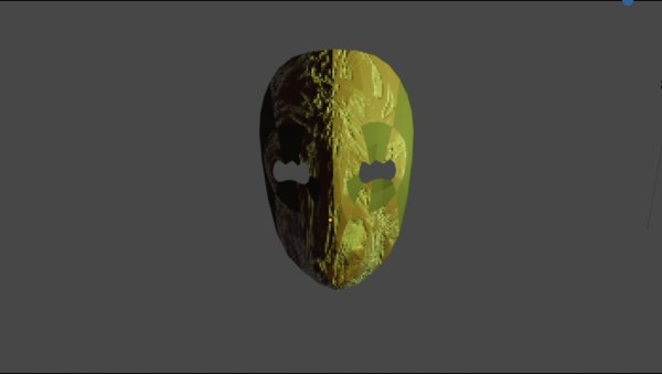 3D horror mask