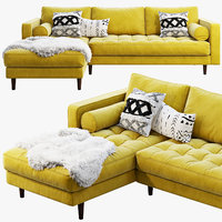 3D article sven sectional sofa