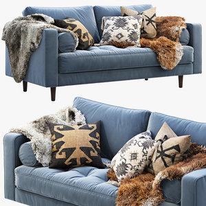article sven loveseat sofa 3D model