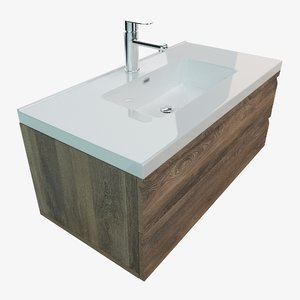 bathroom vanity washbasin 3D model