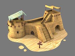 outpost sand 3D model