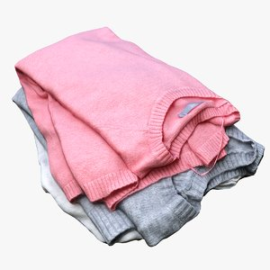 pile sweaters model