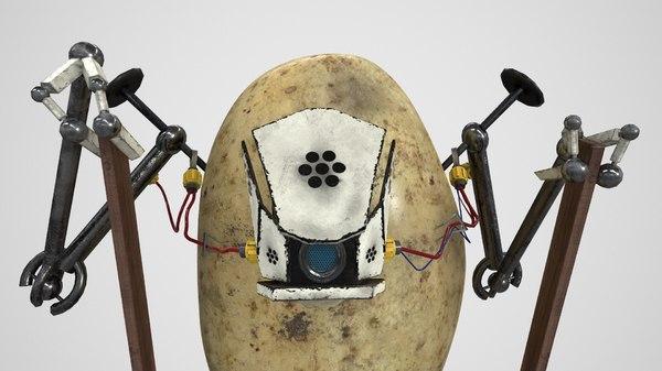 3D robot potato stilts model