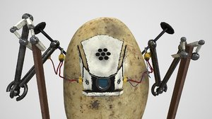 3D robot potato stilts model
