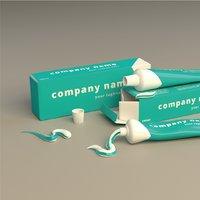 Toothpaste packaging set