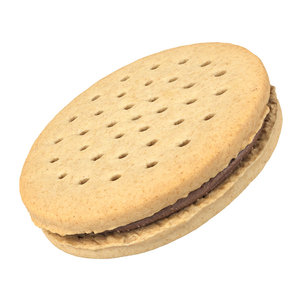3D photorealistic scanned cookie sandwich