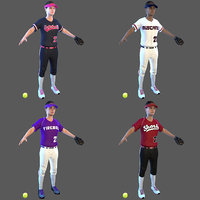 softball ball 3D