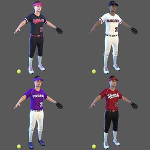 softball ball 3D