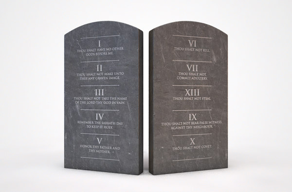 3D model tablets commandments