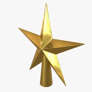 christmas tree star topper 3D model