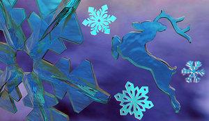 snowflakes deer christmas 3D model