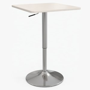 3D modern poseur table
