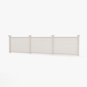 3D model vinyl lattice fence