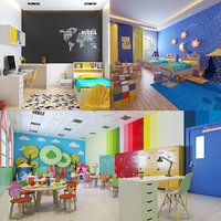 3D real kids interiors scene model