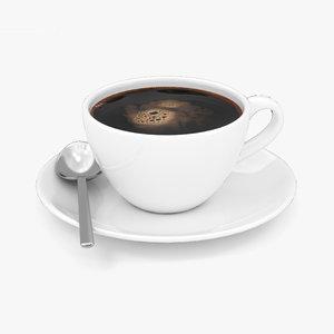 black coffee 3D model