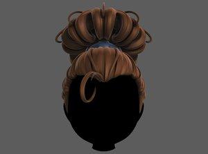 hair style girl v80 3D