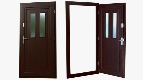 3D door frame handles