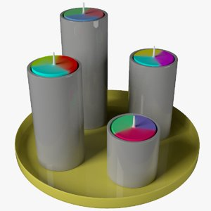 3D candle decor