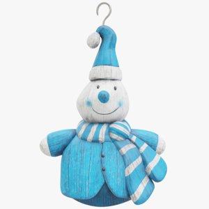 3D snowman blender pbr