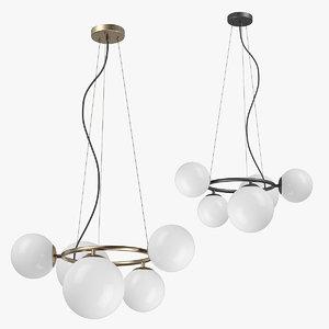 3D 81505x globo lightstar chandelier