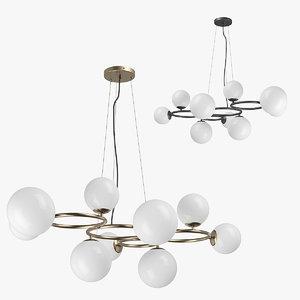 3D 81509x globo lightstar chandelier model