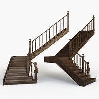 3D model kitbash step staircase interior